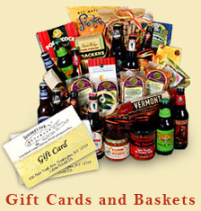 Gift cards and baskets